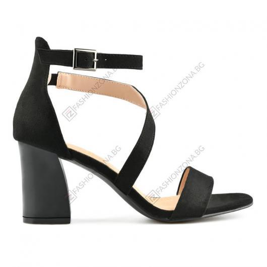 Черни дамски елегантни сандали Ventura