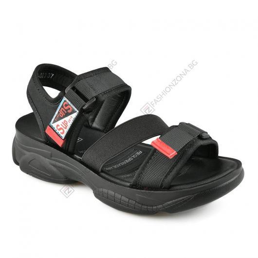 Черни дамски ежедневни сандали Fabiana