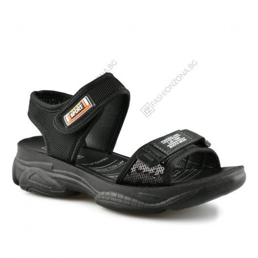 Черни дамски ежедневни сандали Verana