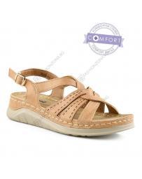 Бежови дамски ежедневни сандали Liliana в online магазин Fashionzona