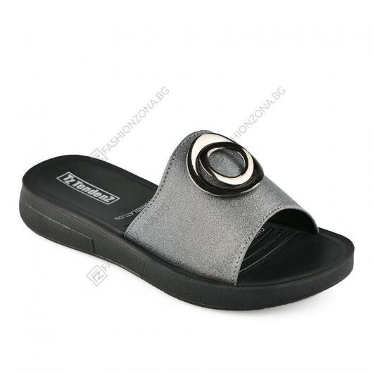 Сребристи дамски ежедневни чехли Elodia