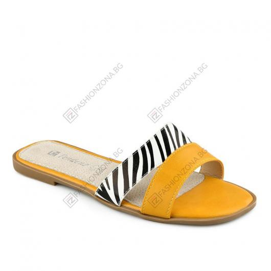 Жълти дамски ежедневни чехли Alexia