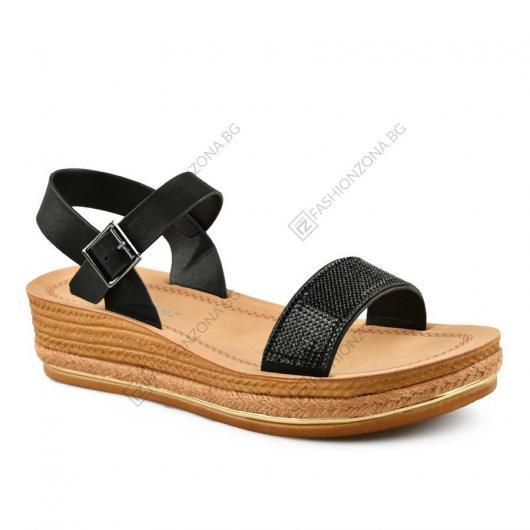 Черни дамски ежедневни сандали Emmanuela