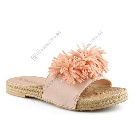 Розови дамски ежедневни чехли Emeralda