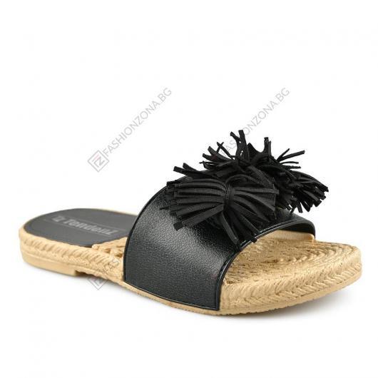 Черни дамски ежедневни чехли Filomela