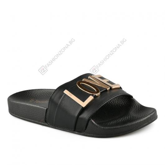 Черни дамски ежедневни чехли Mireia