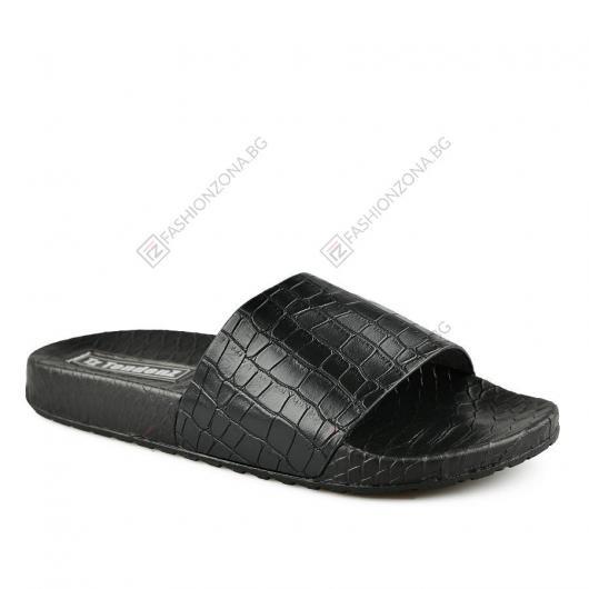 Черни дамски ежедневни чехли Teodara