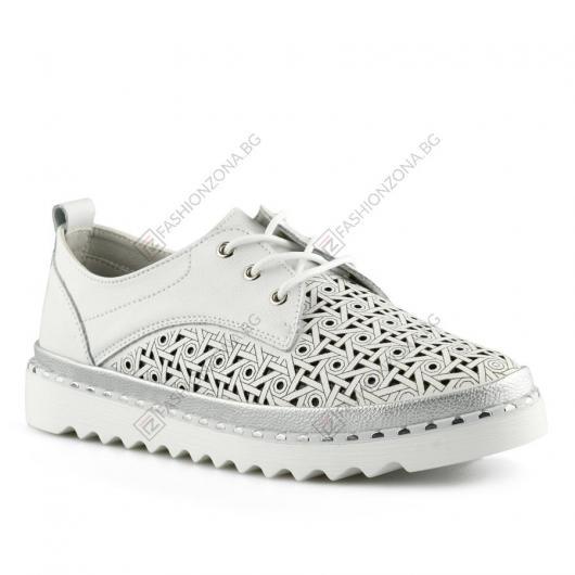 Бели дамски ежедневни обувки Miró