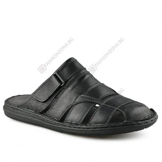 Черни мъжки ежедневни чехли Piersanti
