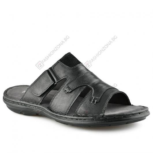 Черни мъжки чехли Ursulina