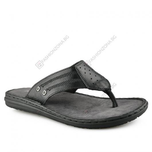 Черни мъжки чехли Julen