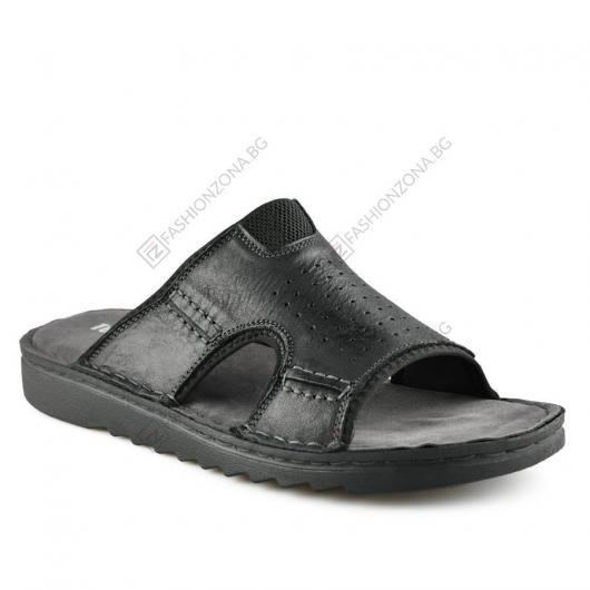 Черни мъжки чехли Pierangelo