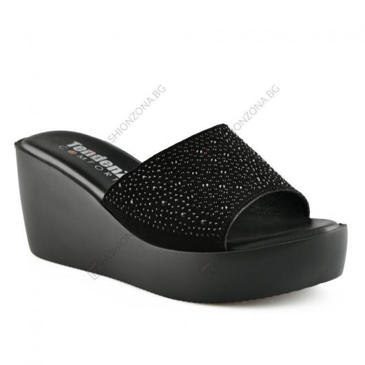 Черни дамски ежедневни чехли Martimana