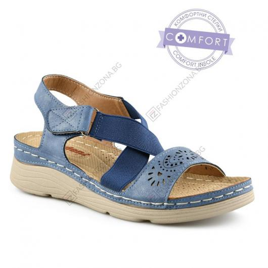 Сини дамски ежедневни сандали Charita
