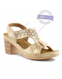 Бежови дамски ежедневни сандали Yola
