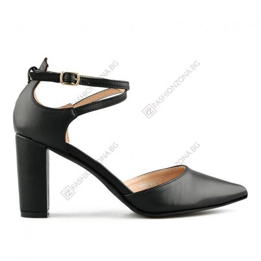 Черни дамски елегантни сандали Tiodora