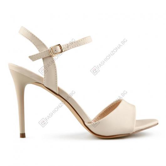 Бежови дамски елегантни сандали Adele