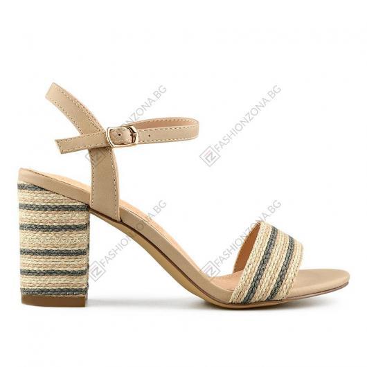 Бежови дамски елегантни сандали Madrona