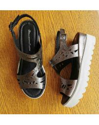 Сребристи дамски ежедневни сандали Laureana