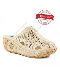 Бежови дамски ежедневни чехли Loyisa в online магазин Fashionzona