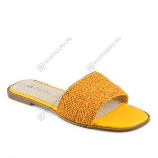 Жълти дамски ежедневни чехли Chofa