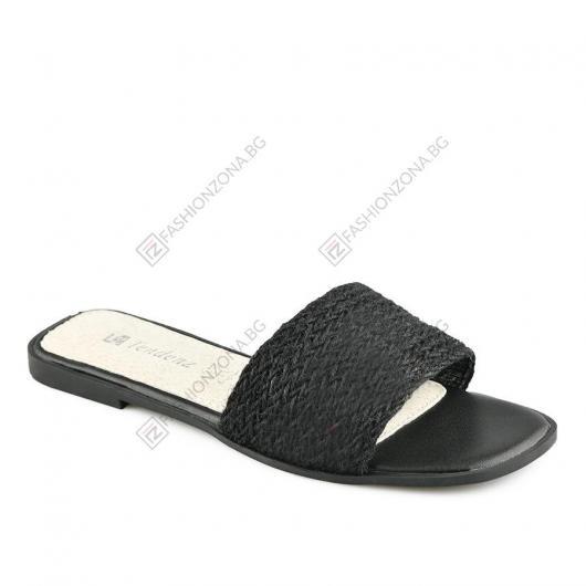 Черни дамски ежедневни чехли Pamelina