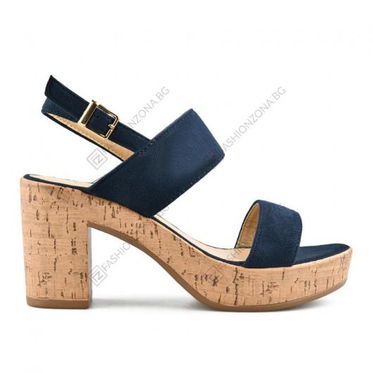 Сини дамски ежедневни сандали Giada
