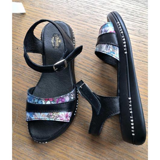 Черни дамски ежедневни сандали Conchita