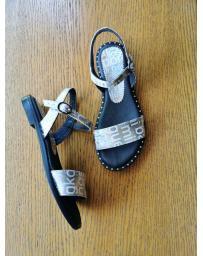 Сребристи дамски ежедневни сандали Bautista