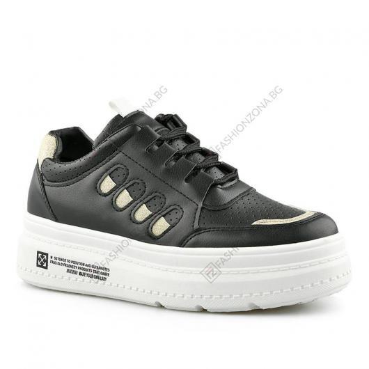 Черни дамски ежедневни обувки Alina