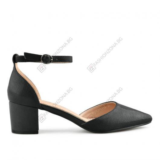 Черни дамски елегантни сандали Lourdecita