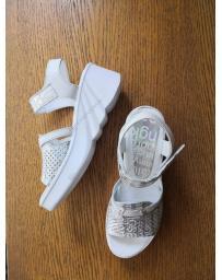 Сребристи дамски ежедневни сандали Colombita