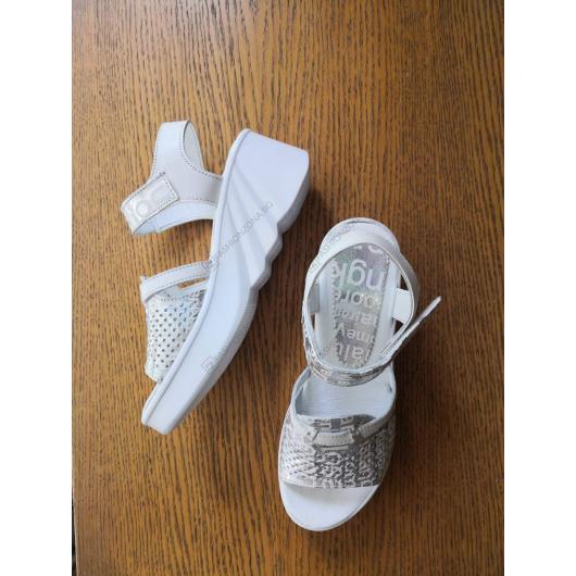 Бели дамски ежедневни сандали Tina