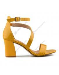 Жълти дамски елегантни сандали Buena