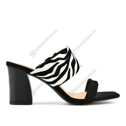 Черни дамски елегантни чехли Elsita