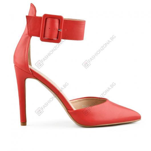 Червени дамски елегантни сандали Antonella