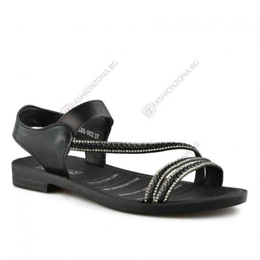 Черни дамски ежедневни сандали Veronica