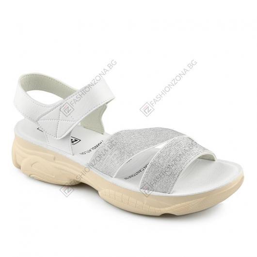 Бели дамски ежедневни сандали Dolores