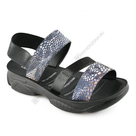 Черни дамски ежедневни сандали Corona