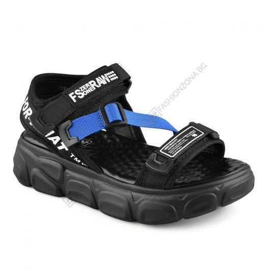 Черни дамски ежедневни сандали Lisa