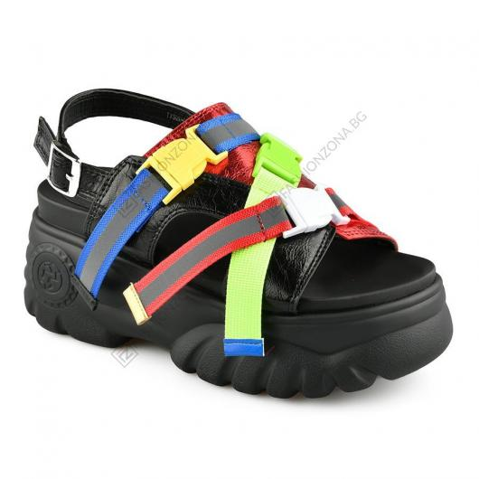Черни дамски ежедневни сандали Annunziata