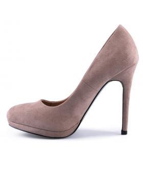 Бежови дамски елегантни обувки Vijayalakshmi в online магазин Fashionzona