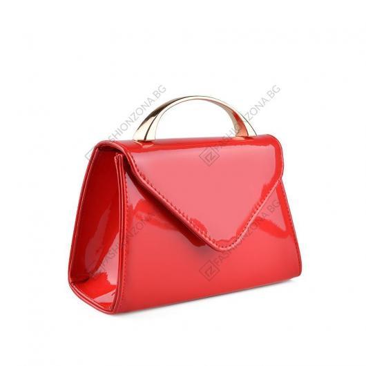 Червена дамска елегантна чанта Zarela