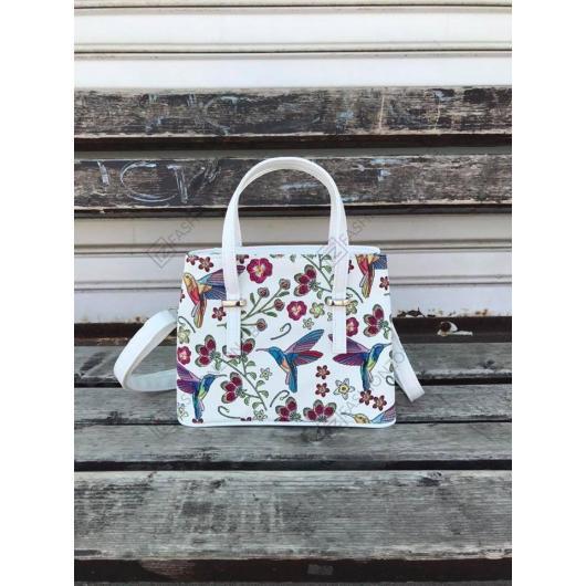 Бяла дамска ежедневна чанта Albina