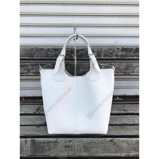 Бяла дамска ежедневна чанта Laia