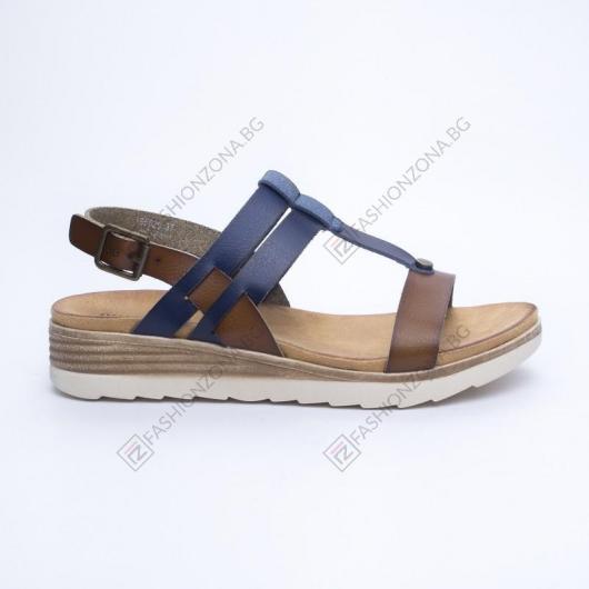 Сини дамски ежедневни сандали Maria