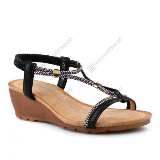 Черни дамски ежедневни сандали Marcita