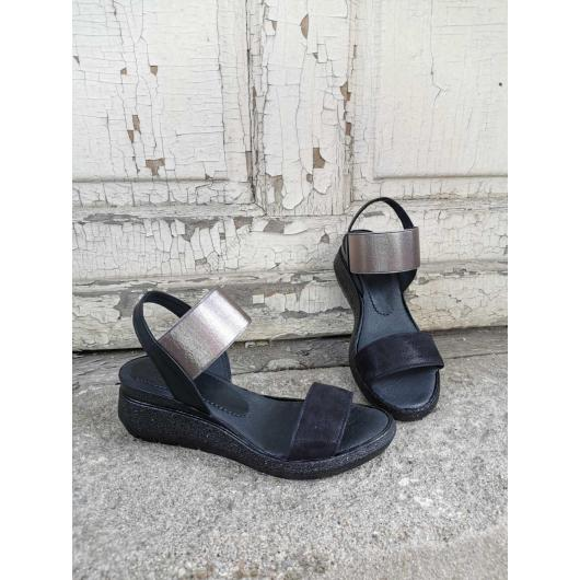 Черни дамски ежедневни сандали Chara