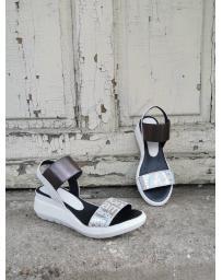 Сребристи дамски ежедневни сандали Gabrela