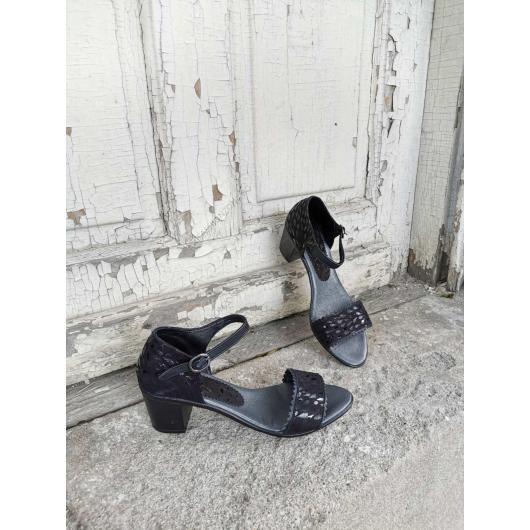 Черни дамски ежедневни сандали Rebeca